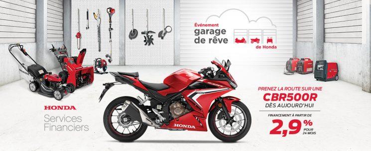 Événement Garage de Rêve – CBR500R