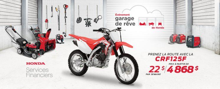 Événement Garage de Rêve – CRF125F
