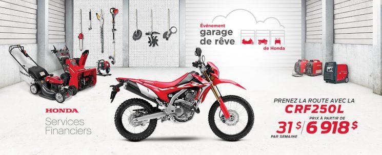 Événement Garage de Rêve – CRF250L