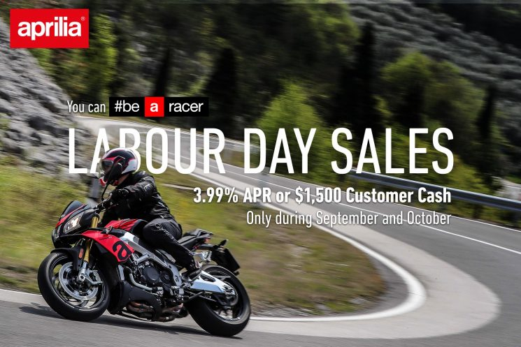 LABOUR DAY SALES  – Aprilia