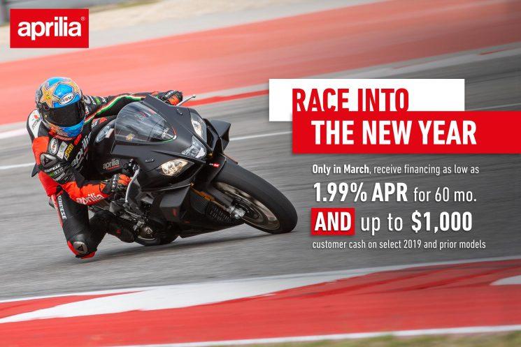 Race into the New Year! Aprilia.