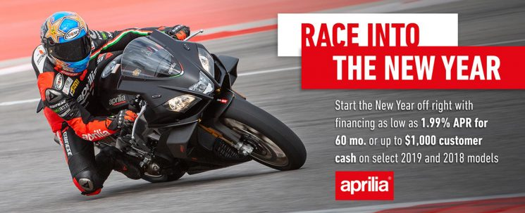 Race into the New Year! Aprilia.
