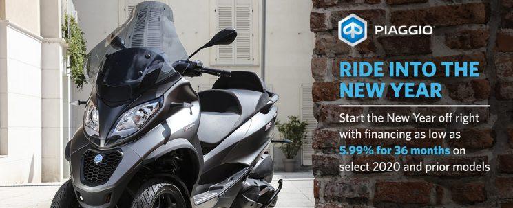 Ride into the New Year! Piaggio.