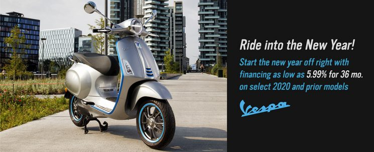 Ride into the New Year! Vespa.
