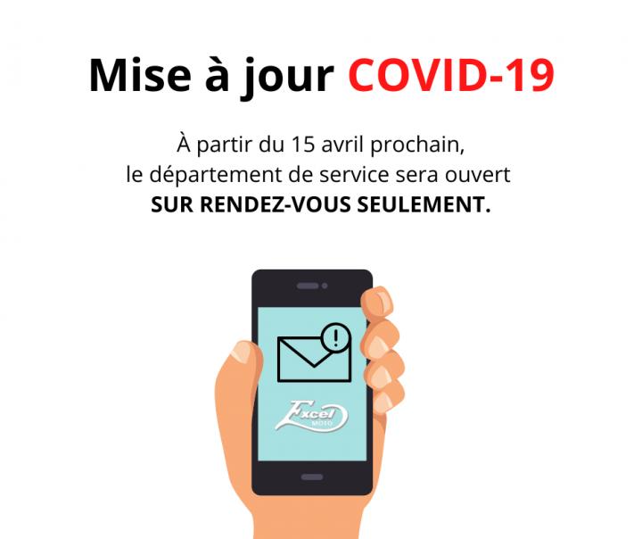 Covid-19 : Avis à notre clientèle